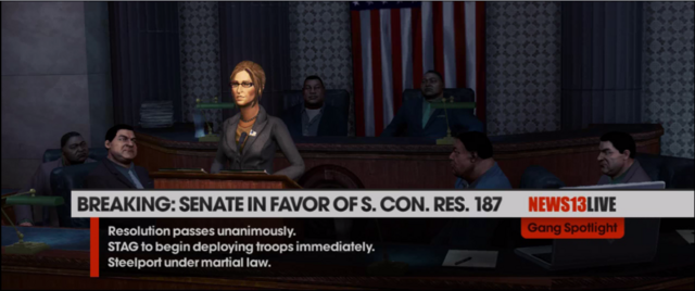File:Monica Hughes at press conference - Senate in favor of S. Con. Res. 187 in The Ho Boat closing cutscene.png