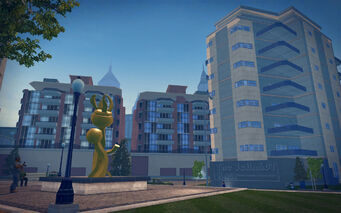 Tidal Spring in Saints Row 2 - statue
