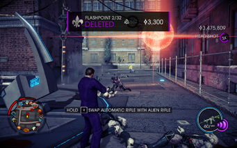 Saints Row IV - Flashpoint deleted