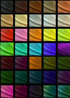 Saints Row The Third Hair Colour collection