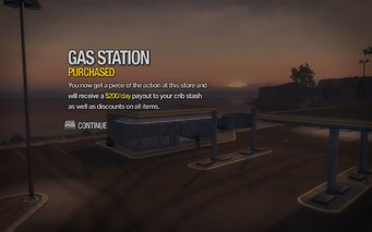 Gas Station in Sommerset purchased in Saints Row 2