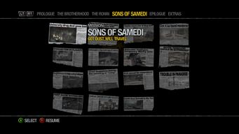 Newspaper Clipboard - Sons of Samedi