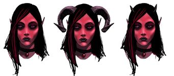 Jezebel Concept Art - three faces
