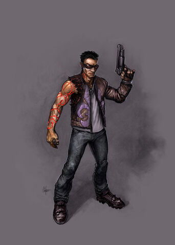 File:Johnny Gat Concept Art - Gat out of Hell - demonic red lines on arm.jpg