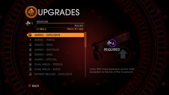 File:Upgrades in Saints Row Gat out of Hell - weapons.png