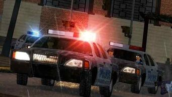 Stilwater Police Five-Os with flashing lights