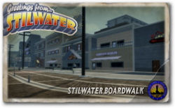 Postcard hood stilwater boardwalk