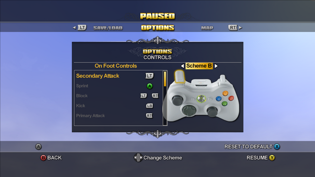 File:Saints Row Menu - Options - Controls - On Foot Controls - Scheme B.png