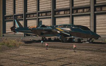 F-69 VTOL - test variant - front left parked in Saints Row IV