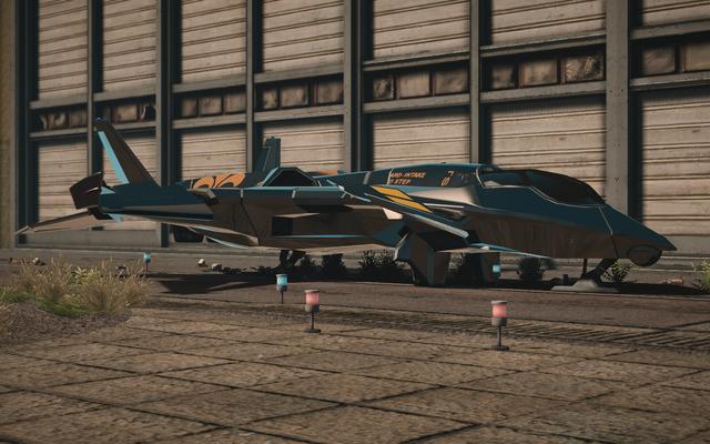 File:F-69 VTOL - test variant - front left parked in Saints Row IV.png