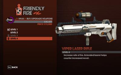 Viper Laser Rifle - Level 4 description
