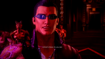 Saints Row Gat out of Hell - Mission - Defeat Satan - Occams Razor mispelled