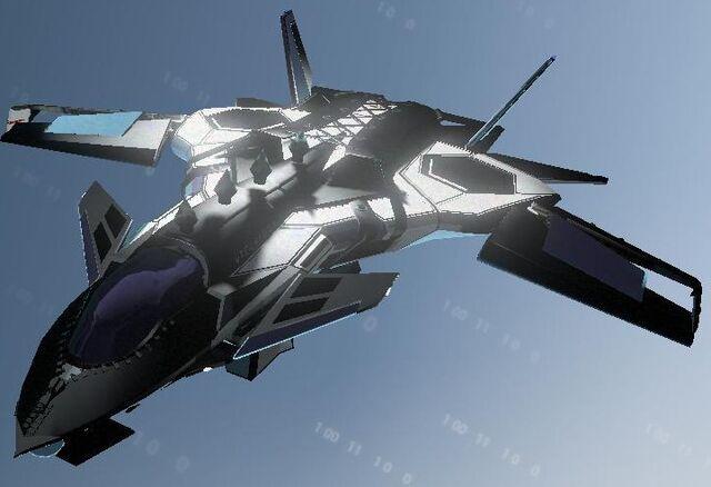 File:Naughty F-69 VTOL - front left in Garage.jpg
