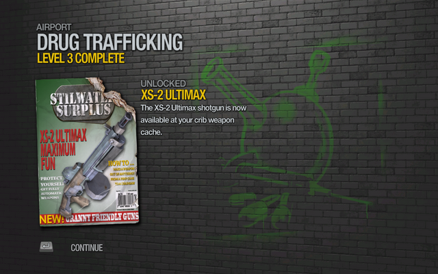 File:XS-2 Ultimax unlocked by Drug Trafficking Level 3 in Saints Row 2.png