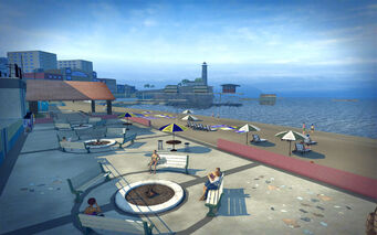 Centennial Beach in Saints Row 2 - beach