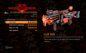 Gat out of Hell - Automatic Rifle (Lava Cannon) - Upgrades