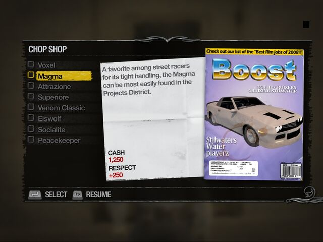 File:Magma - Truckyard Chop Shop list in Saints Row 2.jpg