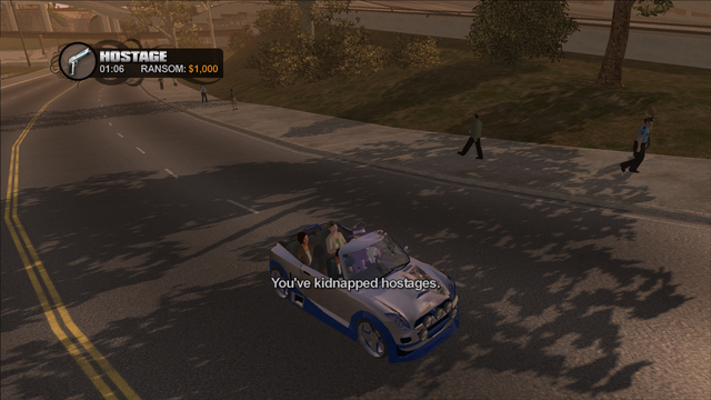 File:Hostage in Saints Row - You've kidnapped hostages - 1000 cash for Compact with 3 passengers.png