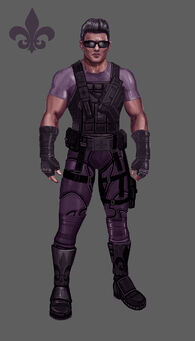 Johnny Gat Concept Art - Super Homie - purple shirt and purple armour