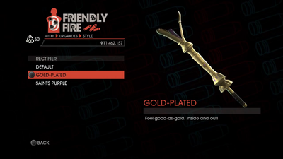 Weapon - Melee - Rectifier - Gold-Plated