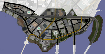 Downtown map in Saints Row