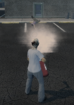 Fire Extinguisher knocking down a civilian