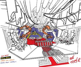 Crib Ship Concept Art - bridge