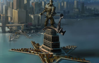 Magarac Island Joe Steel statue