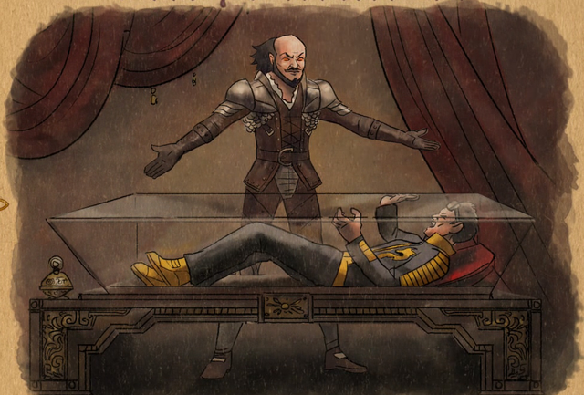 File:Gat out of Hell cutscene - Shakespeare buries Shogo alive.png