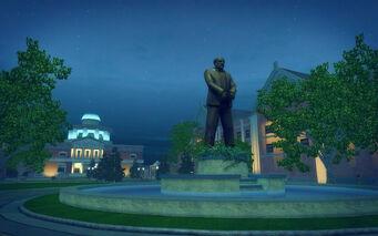 Stilwater University - statue