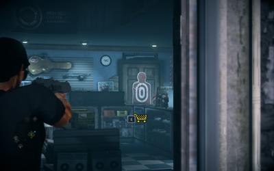 Saints Row IV - cardboard target reappears in Friendly Fire