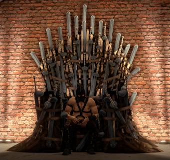 Dom the Dom on dildo throne