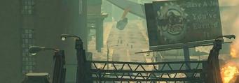 Arapice Island in Zombie Attack cutscene