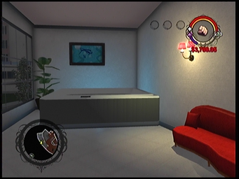 A hot tub in Anthony's condo in Saints Row