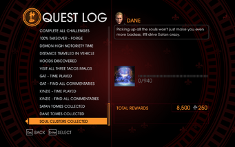 Gat out of Hell Challenge - Soul Clusters Collected
