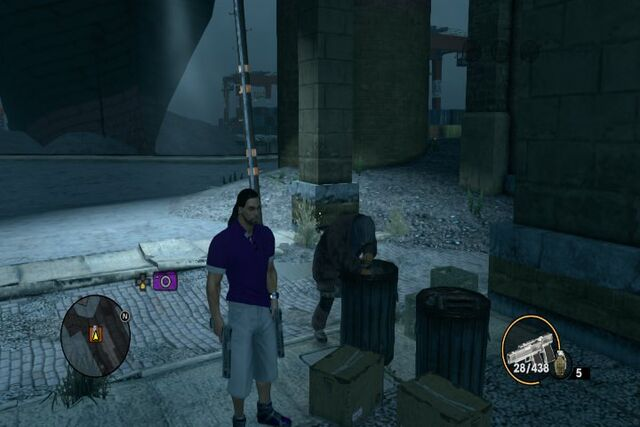 File:Bum digging through trash in Salander in Saints Row The Third.jpg