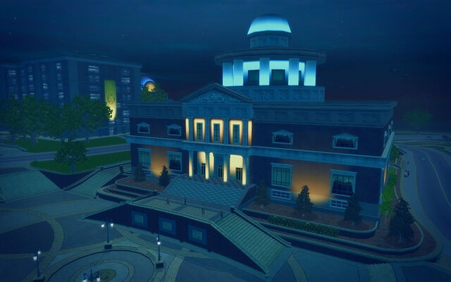 File:Stilwater University Student Union - exterior at night.jpg