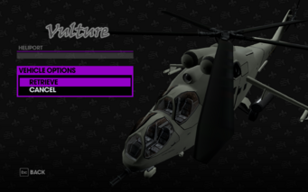 Vulture in Heliport Garage in Saints Row The Third