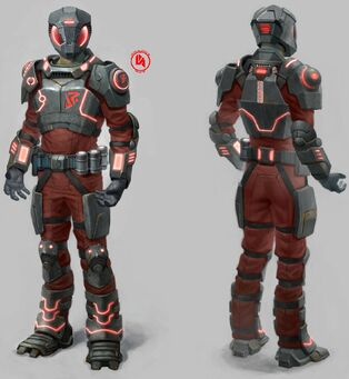 Saints Row IV Early Zin Concept Art With Alternate Suit Markings and Logo