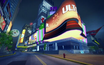Brighton in Saints Row 2 - Ultor billboard