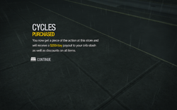 Cycles in Misty Lane purchased in Saints Row 2