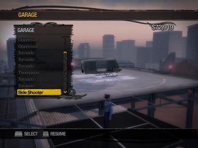 Side Shooter in helipad Garage