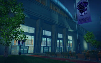 Ultor Dome in Saints Row 2 - side of Ultor Dome