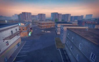 Bavogian Plaza in Saints Row 2 - Saints Hideout parking lot