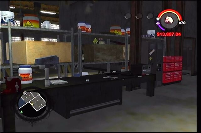 File:Donnie's garage in Saints Row - interior store room.jpg