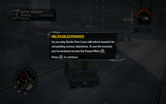Unlockable Rewards tutorial in Saints Row 2