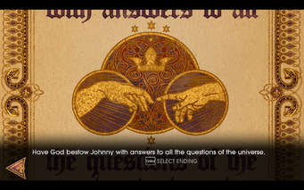 Gat out of Hell - Ending - Have God bestow Johnny with answers to all the questions of the universe