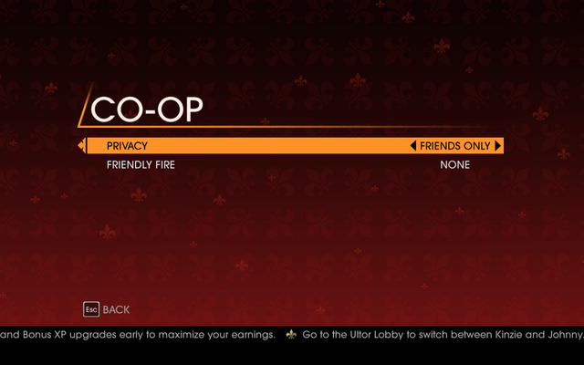 File:Saints Row Gat out of Hell - Main Menu - Co-op Campaign - Co-op Options.png