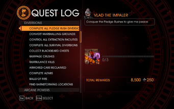 Gat out of Hell Challenge - Complete All Pledge Rush Diversions