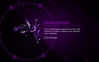 Saints Row IV Stone Age Pack unlock screen